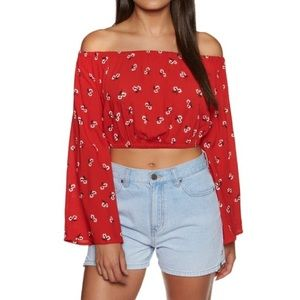 NWT billabong my day crop top